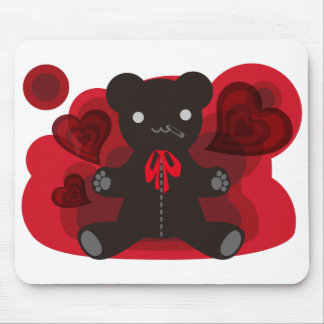 The stuffed toy of the bear mouse mat