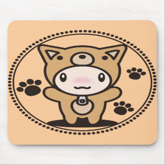 The stuffed toy of the dog mouse pads