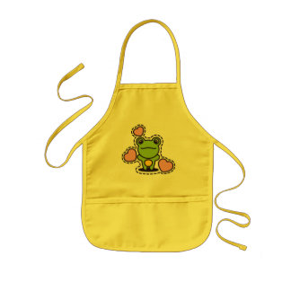 The stuffed toy of the Frog Kids Apron