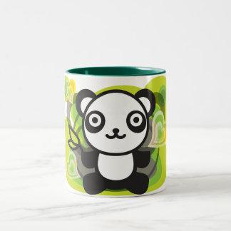 The stuffed toy of the panda Two-Tone coffee mug