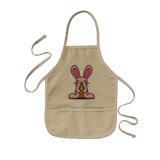 The stuffed toy of the rabbit kids apron