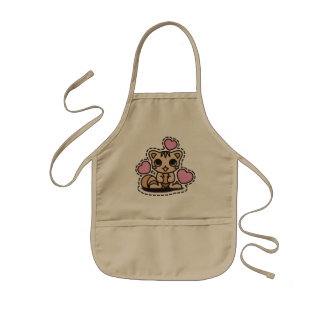 The stuffed toy of the squirrel kids apron