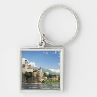 The stunning Schonbuhel Castle sits above the Silver-Colored Square Key Ring
