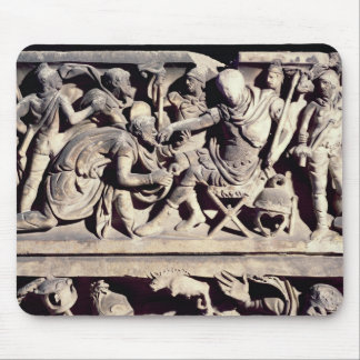 The submission of a barbarian to a Roman Mouse Mat