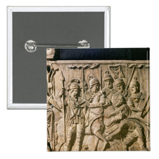 The submission of a barbarian to a Roman troop 15 Cm Square Badge
