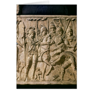 The submission of a barbarian to a Roman troop Card