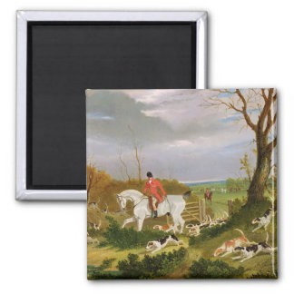 The Suffolk Hunt - Going to Cover near Herringswel Square Magnet