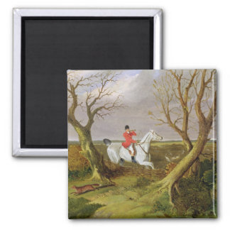 The Suffolk Hunt - Gone Away (oil on canvas) Magnet