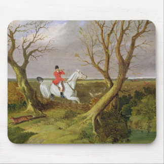 The Suffolk Hunt - Gone Away (oil on canvas) Mouse Mat