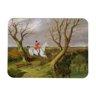 The Suffolk Hunt - Gone Away (oil on canvas) Rectangular Photo Magnet