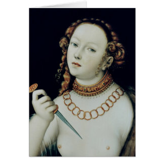 The Suicide of Lucretia 1538 Greeting Cards