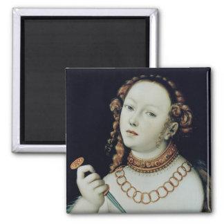 The Suicide of Lucretia, 1538 Fridge Magnets
