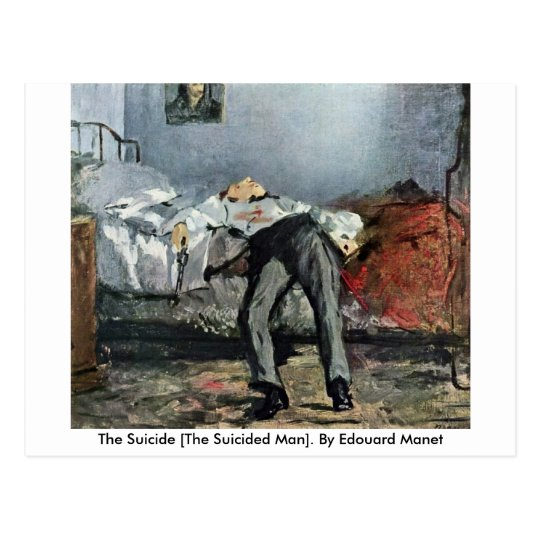 The Suicide [The Suicided Man]. By Edouard Manet Postcard