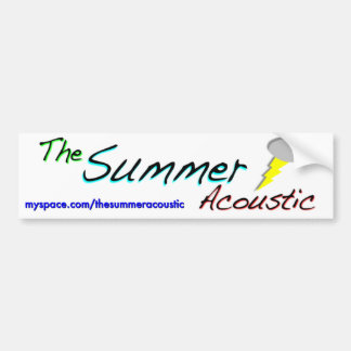 The Summer Acoustic Bumper Sticker