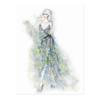 The Summer Dress Postcard