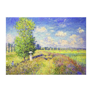 The Summer Poppy Field, by Claude Monet Canvas Print