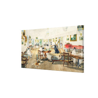 The Summer Room in the Artist's House at Patna, In Canvas Print
