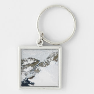 The summer thaw Silver-Colored square key ring