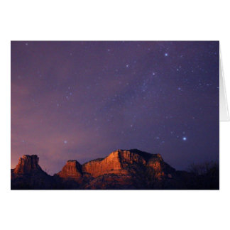 The Summer Triangle Over Sedona Card