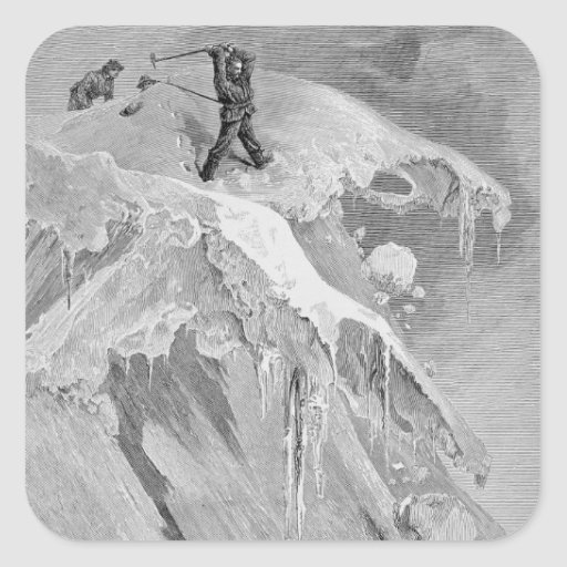 The Summit of the Moming Pass in 1864, from 'The A Square Stickers