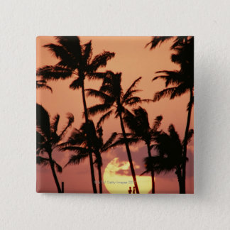 The Sun and Palm Tree 15 Cm Square Badge