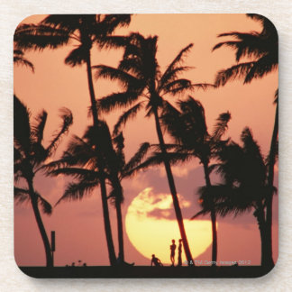 The Sun and Palm Tree Beverage Coasters