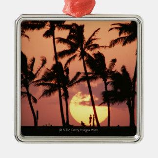 The Sun and Palm Tree Christmas Ornament