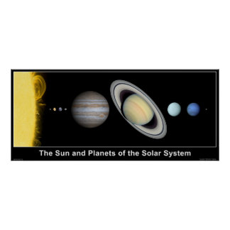 The Sun and Planets of the Solar System Print