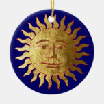 The Sun and the Moon Round Ceramic Decoration