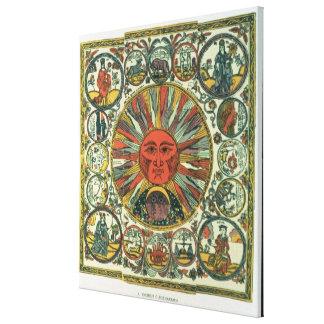 The Sun and the Zodiac, Russian, late 18th century Canvas Print