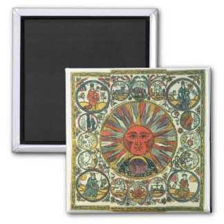The Sun and the Zodiac, Russian, late 18th century Magnet