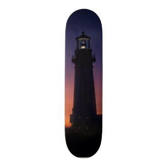 The sun ball drops down on the colorful horizon 18.1 cm old school skateboard deck