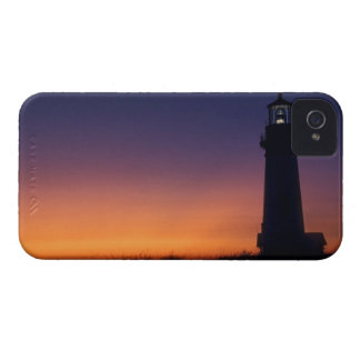 The sun ball drops down on the colorful horizon iPhone 4 cases