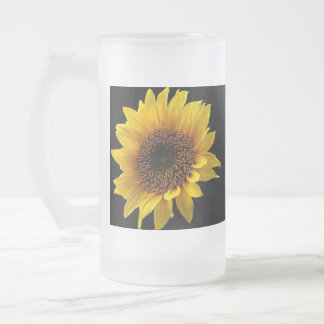 The Sun Flower Frosted Glass Mug
