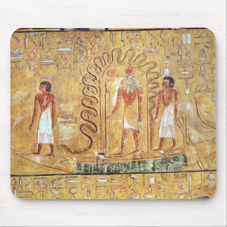 The sun god Ra in his solar barque Mouse Mat