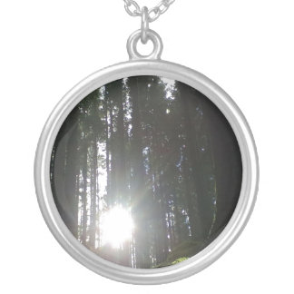 The sun in the forest round pendant necklace