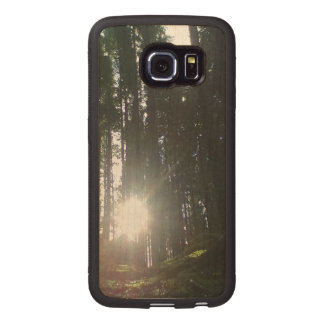 The sun in the forest wood phone case