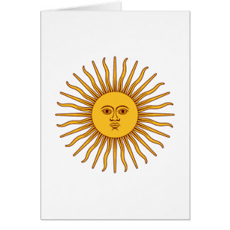 THE SUN OF MAY (Sol De Mayo) ~ Greeting Card