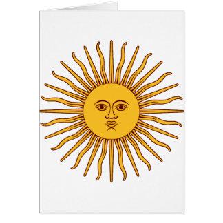 THE SUN OF MAY (Sol De Mayo) ~~ Greeting Card
