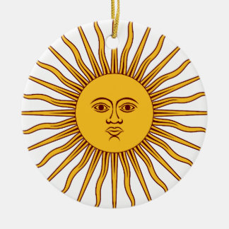 THE SUN OF MAY (Sol De Mayo) ~~ Round Ceramic Decoration