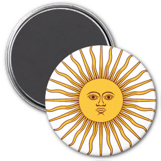 THE SUN OF MAY (Sol De Mayo) ~~ 7.5 Cm Round Magnet