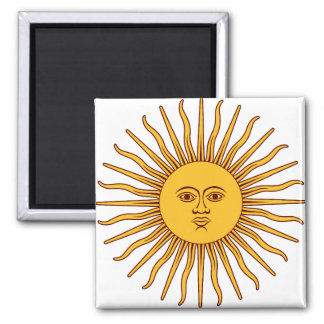 THE SUN OF MAY (Sol De Mayo) ~~ Square Magnet