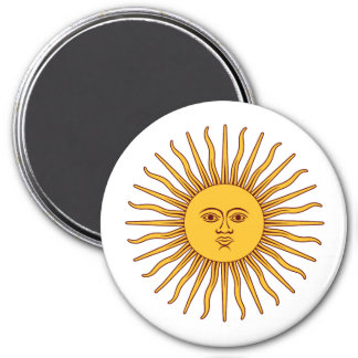 THE SUN OF MAY (Sol De Mayo) ~ 7.5 Cm Round Magnet