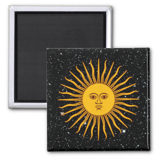 THE SUN OF MAY (Sol De Mayo) space theme ~ Square Magnet