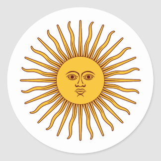 THE SUN OF MAY (Sol De Mayo) ~ Round Sticker