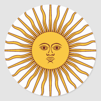 THE SUN OF MAY (Sol De Mayo) ~~ Round Sticker