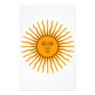 The Sun of May Stationery