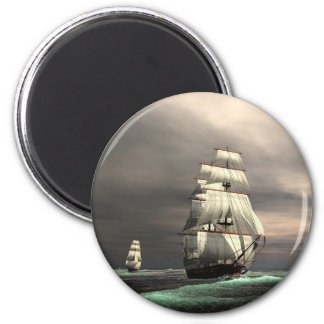 The Sun on the Sails 6 Cm Round Magnet