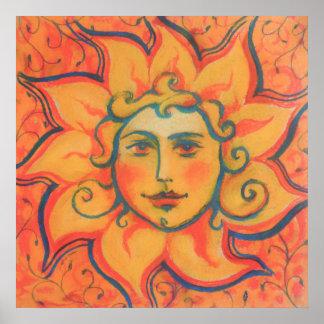 """The Sun"", pastel painting, fairytale art Poster"