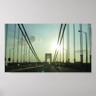The Sun Peaking through the Bridge Poster